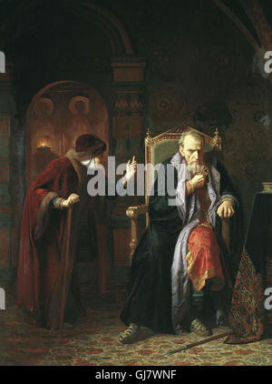 Ivan the Terrible and his old nanny, by Bogdan (Karl) Venig. Ivan IV Vasilyevich 1530 – 1584), commonly known as - Stock Photo