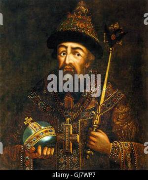 18th century depiction of Ivan the Terrible by Anonim. Ivan IV Vasilyevich 1530 – 1584), commonly known as Ivan - Stock Photo