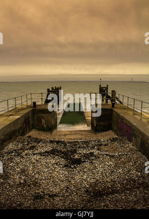 Dry Dock at Gunners Park, Southend on Sea - Stock Photo