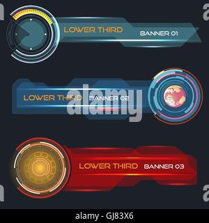 Lower third banners - Stock Photo