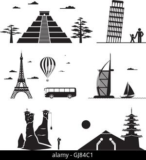Travel icons. - Stock Photo