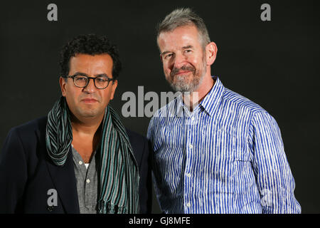 Edinburgh, Scotland. 13th August 2016.   Adam Mars-Jones and Hisham Matar at the Edinburgh Book Festival. Brian - Stock Photo