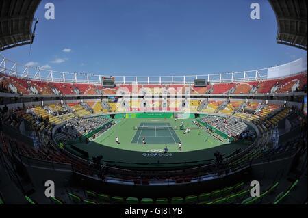 . Tennis. Mens singles semi final. Olympic tennis centre. Olympic park. Rio de Janeiro. Brazil. 13/08/2016. - Stock Photo