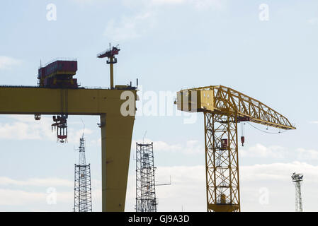 Samson and Goliath cranes owned by the infamous ship ...