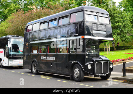 York the  Ghost bus Tour, York, North Yorkshire, England - Stock Photo
