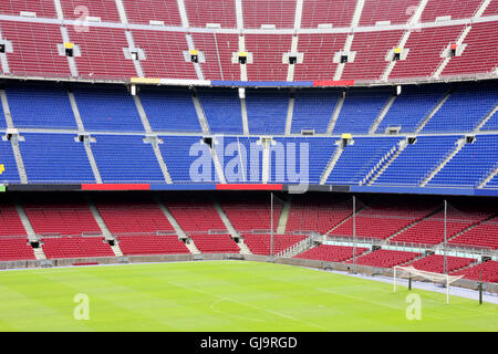 view of Nou Camp Stadium in Barcelona - Stock Photo