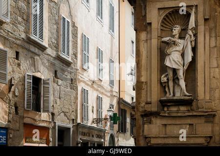 Statue of Michele di Lando, Loggia del Mercato Nuovo, Florence - Stock Photo
