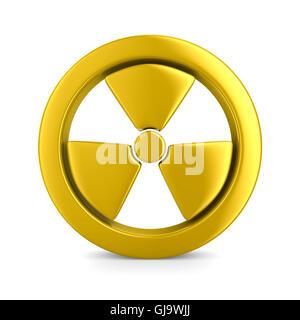 radiation symbol on white. Isolated 3D image - Stock Photo