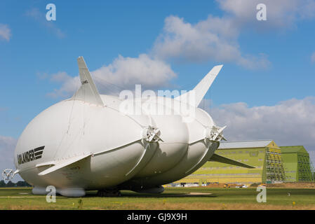 Airlander 10, world's largest aircraft at Cardington Hanagars, Bedfordshire, UK - Stock Photo