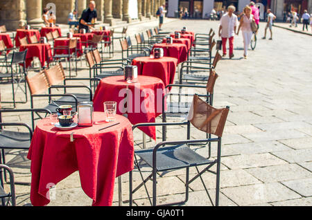 traditional Italian bistro located in Bologna Emilia Romagna - Stock Photo