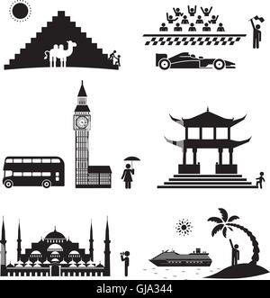 Travel icons. - Stock Photo