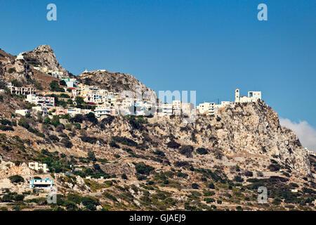Menetes is a village of Karpathos, Greece - Stock Photo