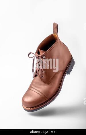 Men's brown Leather Shoes - Stock Photo