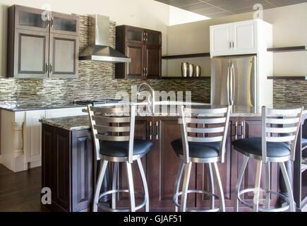 Upscale kitchen interior design - Stock Photo
