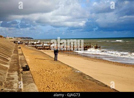 Walcott sea wall North Norfolk coast