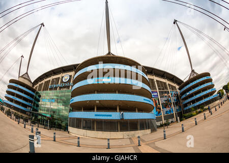 Etihad stadium is home to Manchester City English Premier League football club, one of the most successful clubs - Stock Photo