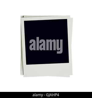 Frame photo blank on isolated white with clipping path. - Stock Photo