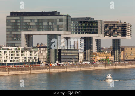 Crane Houses in Cologne, Germany - Stock Photo