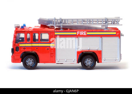 A red toy fire engine. - Stock Photo