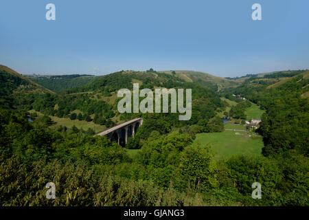 Monsal Head, headstone viaduct in Peak District National Park - Stock Photo