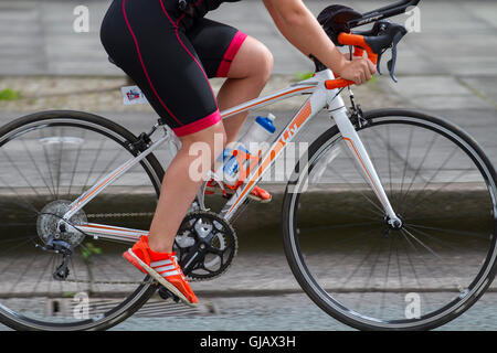 LIV Road bike, carbon fibre bicycle frames, monocoque, frameset, composite bike frame used by Cyclists at the 2016 - Stock Photo