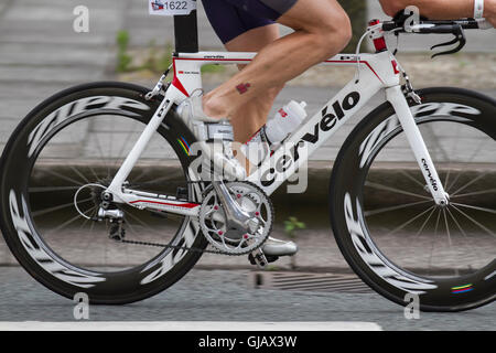 Crevelo Road bike, carbon fibre bicycle frames, monocoque, composite bike frame, frameset, carbon, sport, speed, - Stock Photo