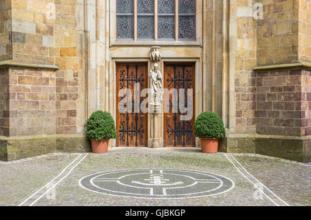 Entrance of the St. Clemens church in Telgte, Germany - Stock Photo