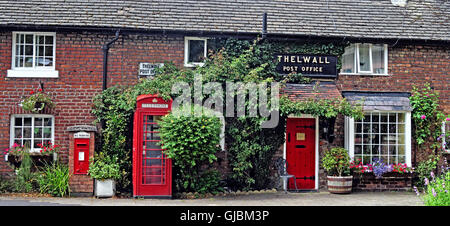 Old Post Office, Bell Lane, Thelwall, Warrington, Cheshire, England, UK - Stock Photo