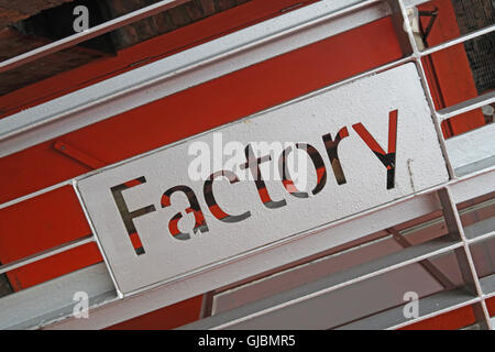 Factory Records Offices FACT251, 118 Princess St, Manchester M1 7EN, England, UK - Stock Photo