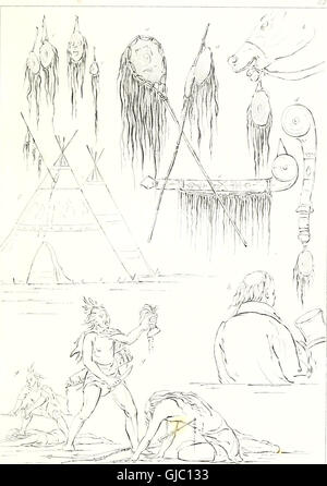 Illustrations of the manners, customs, and condition of the North American Indians - with letters and notes written - Stock Photo