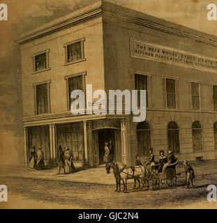 The history and directory of the town and county of the town of Nottingham (1844) - Stock Photo
