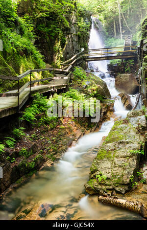 The Flume Gorge, Lincoln, New Hampshire - Stock Photo