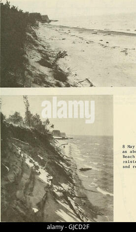 Coastal changes, eastern Lake Michigan, 1970-1974 (1981) - Stock Photo