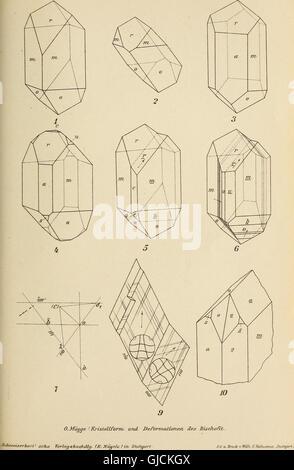 Neues Jahrbuch für Mineralogie, Geologie and PalC3A4ontologie (1906) - Stock Photo