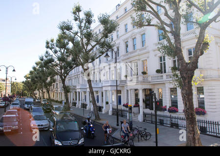 Queen's Gate Street  SW7 in the Royal Borough of Kensington and Chelsea and the City of Westminster Greater Central - Stock Photo
