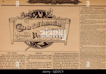 Penman's Art Journal and Teachers' Guide (1884) - Stock Photo