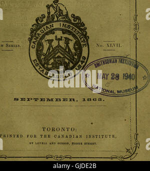 The Canadian journal of industry, science and art (1863) - Stock Photo