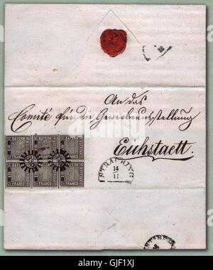 Eichstaett-Brief-postfrisch - Stock Photo