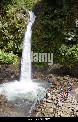 La Paz waterfall, Poas, Costa Rica, Central America - Stock Photo