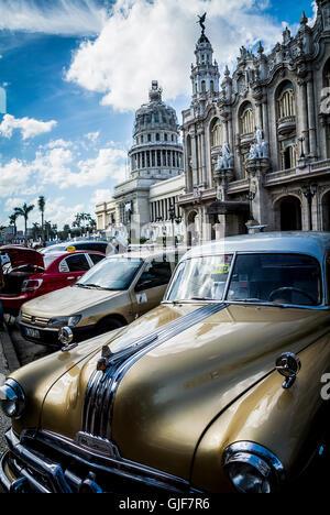 Bronze classic car havana cuba - Stock Photo