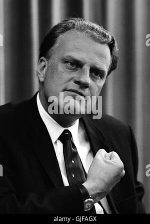 Billy Graham, world famous Christian evangelist, on April 11, 1966. Photo by Warren K. Leffler. - Stock Photo