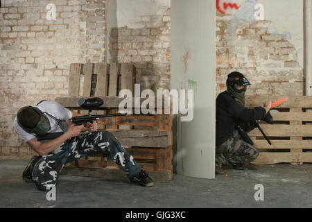 paintball action - Stock Photo