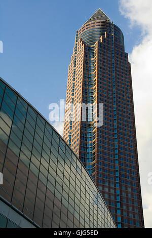 messeturm frankfurt - Stock Photo