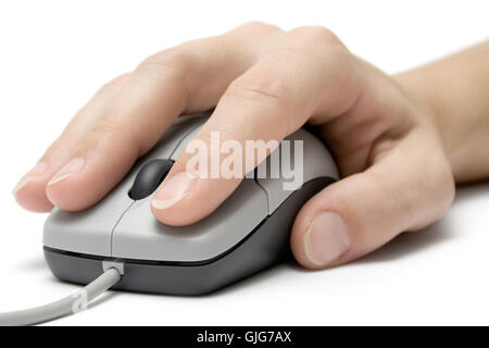 scrolling and clicking - Stock Photo