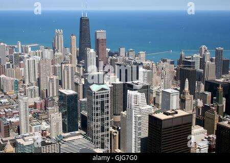 chicago - from above - Stock Photo