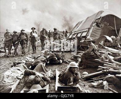 The Battle of the Menin Road Ridge, Battle of Menin Road, Third Battle of Ypres in the First World War, Belgium - Stock Photo