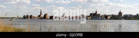 rostock-panorama - Stock Photo