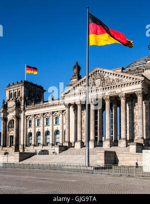 The Reichstag (Bundestag) German parliament building, Mitte, Berlin, Germany. - Stock Photo