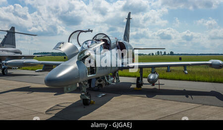 Military Advanced Light Combat Aircraft Aero L-159 ALCA. Czech Air Force. - Stock Photo