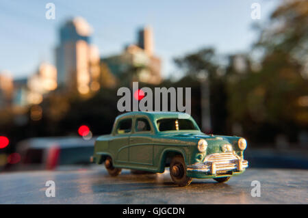Retro model Austin A40 car, Melbourne, Victoria, Australia - Stock Photo